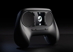 Ursprüngliche Version des Steam Controllers mit Touchscreen