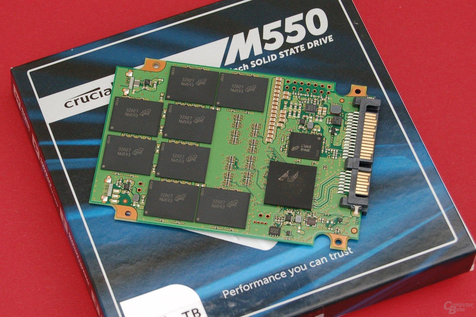 Crucial M550 1.024 GB – PCB Vorderseite