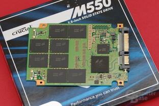 Crucial M550 512 GB – PCB Vorderseite