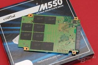 Crucial M550 512 GB – PCB Rückseite