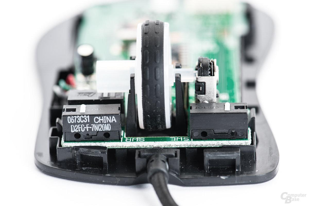 Scrollrad mit mechanischer Erfassung und ZHIJ-Schaltung
