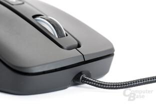 Das USB-Kabel der Mizar ist mit Textil ummantelt