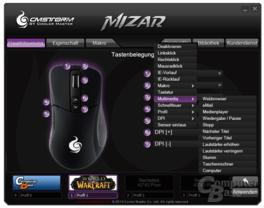 CM Storm Mizar Konfigurationssoftware im typischen Stil