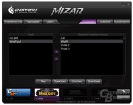 Gespeicherte Mizar-Profile auf PC- (links) und Mausspeicher (rechts)