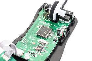 Haupt-PCB der Mizar inklusive Sensorik und 128-Kilobyte-Speicher