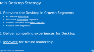 Fokus von Intels Desktop-Geschäft