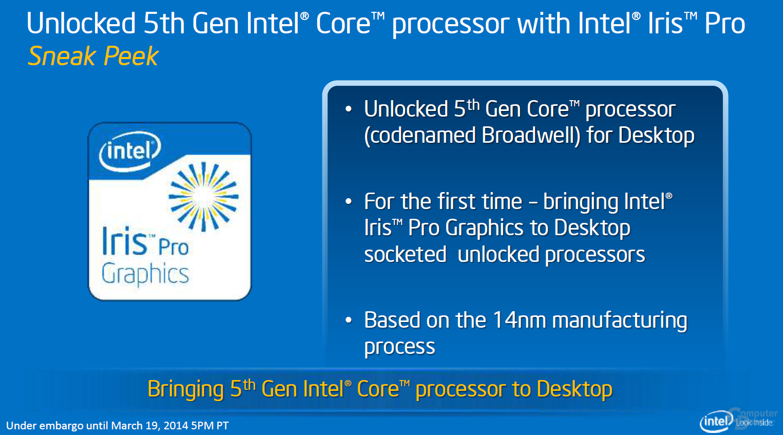 Desktop-Broadwell mit Iris Pro