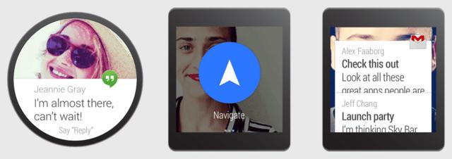 Verschiedene Bildschirme unter Android Wear