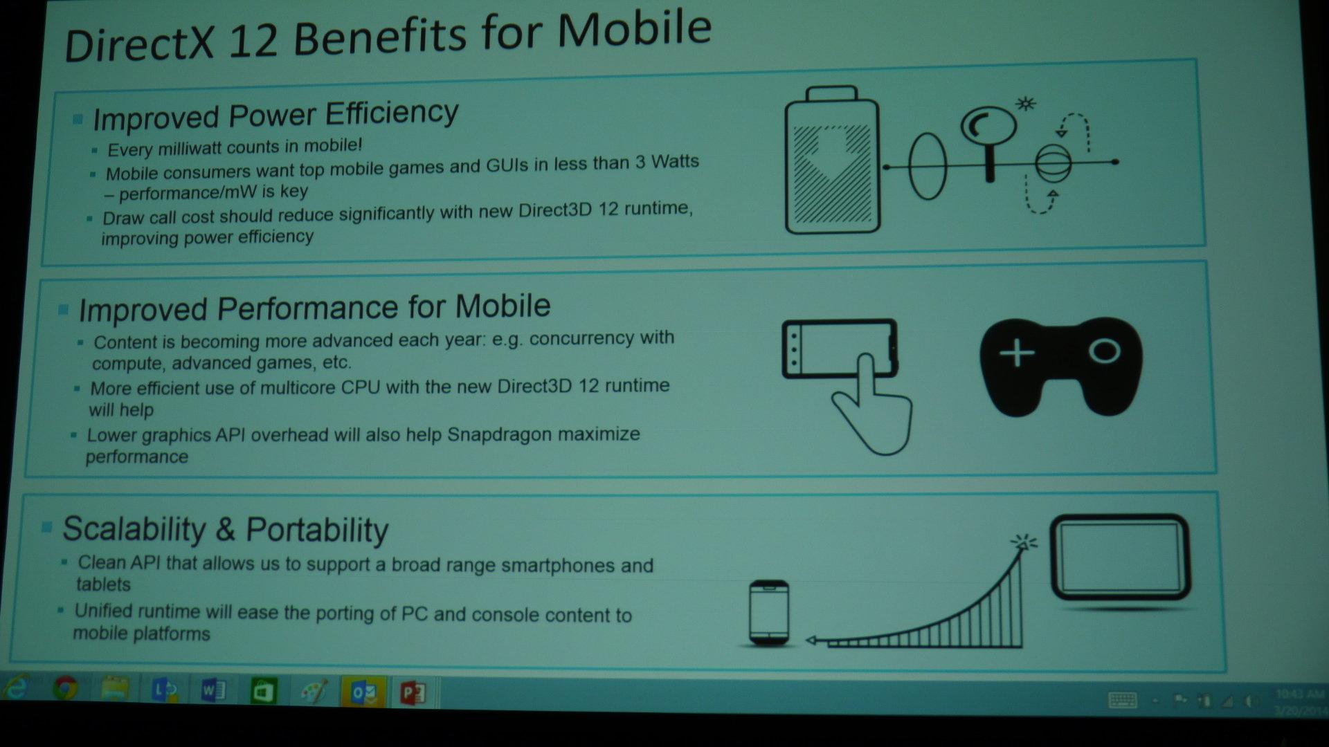 Vorteile durch DirectX 12 für Mobilplattformen