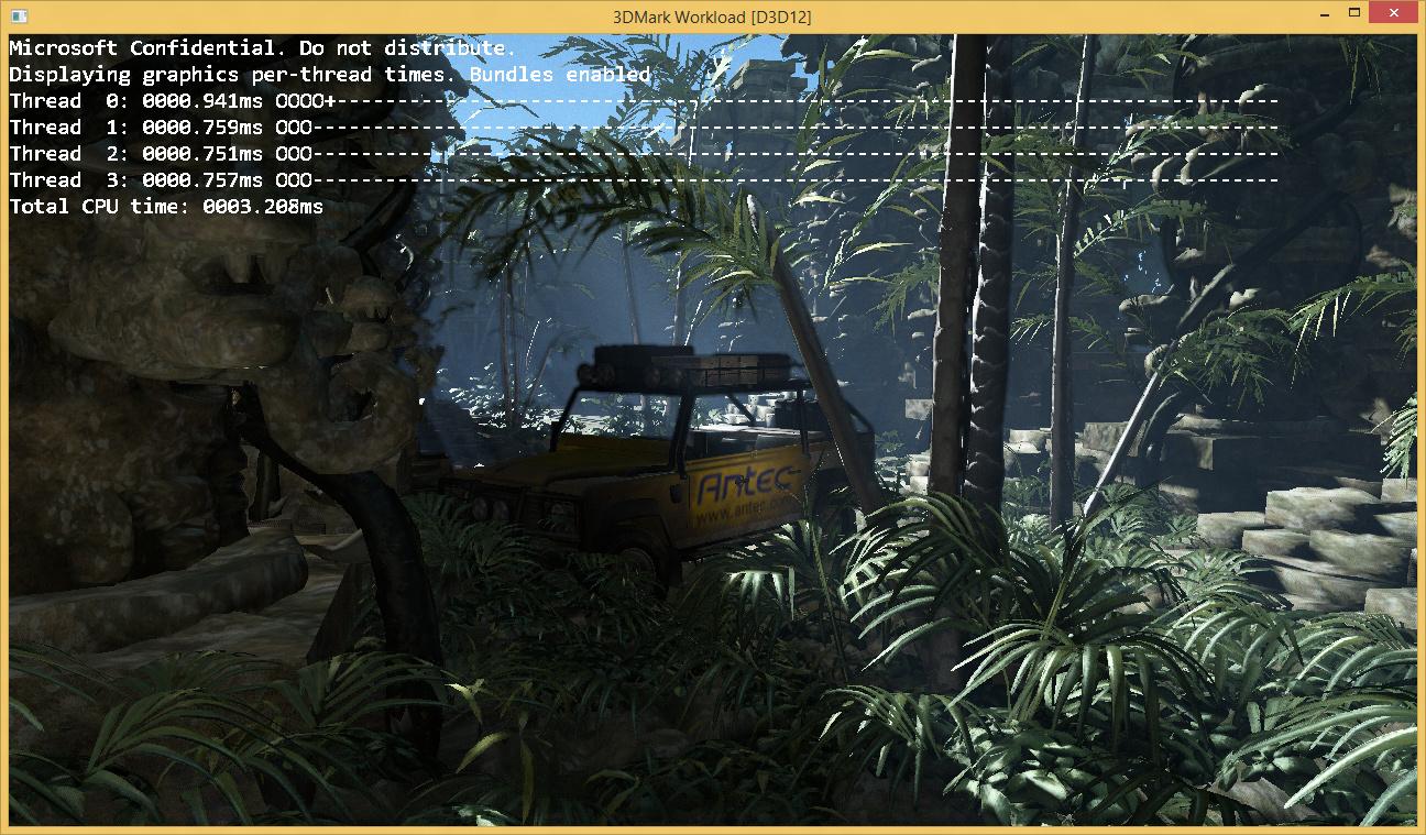 CPU-Zeit im 3DMark unter Direct3D 12