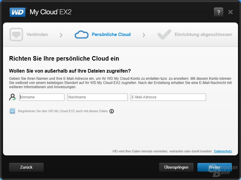 WD My Cloud EX2: Windows Anwendung