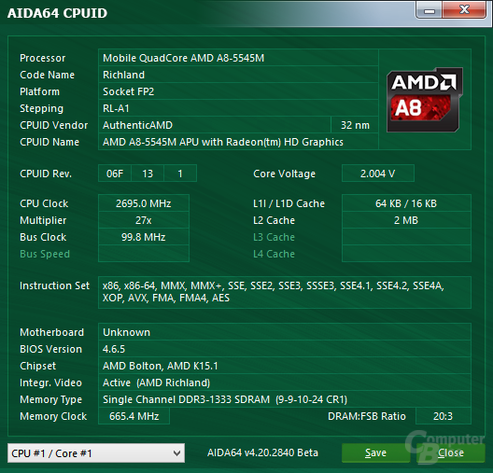 AMD A8-5545M in Zbox nano AQ02