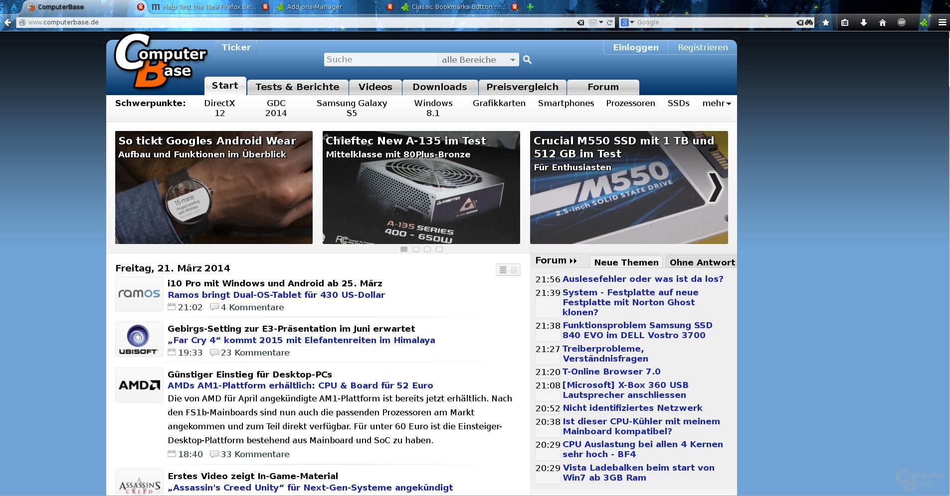 Firefox 29 Beta