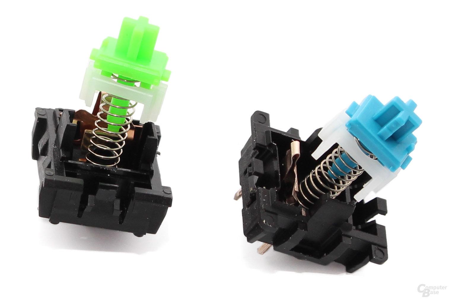 Identisch: Schalter ohne Oberschale