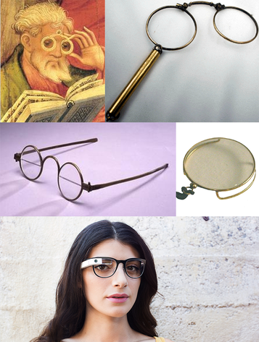 Brillen: gestern / heute / morgen