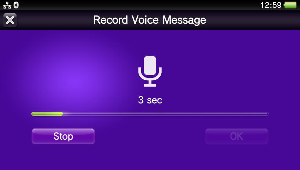 Sprachnachrichten auf der PlayStation Vita