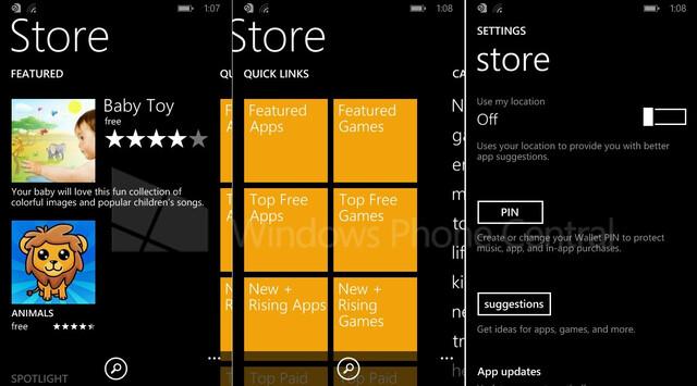 Windows Phone 8.1 mit überarbeitetem Store
