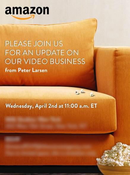 Neues zum Video-Geschäft: Amazon lädt ein