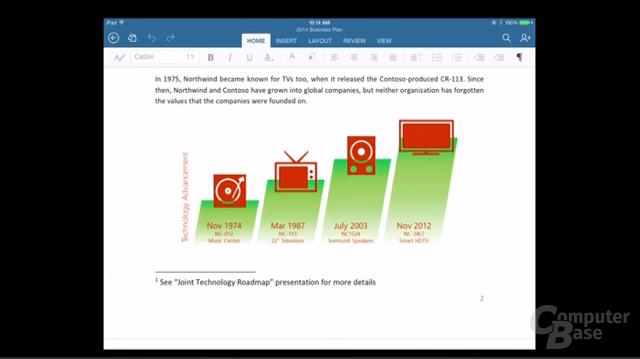 Microsoft Office für Apples iPad