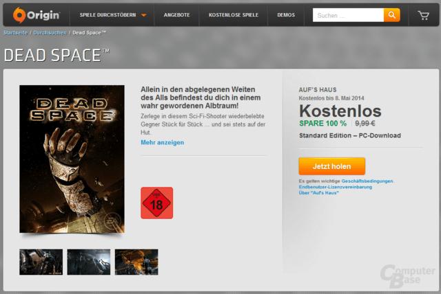 DeadSpace aktuell kostenlos im Origin-Shop