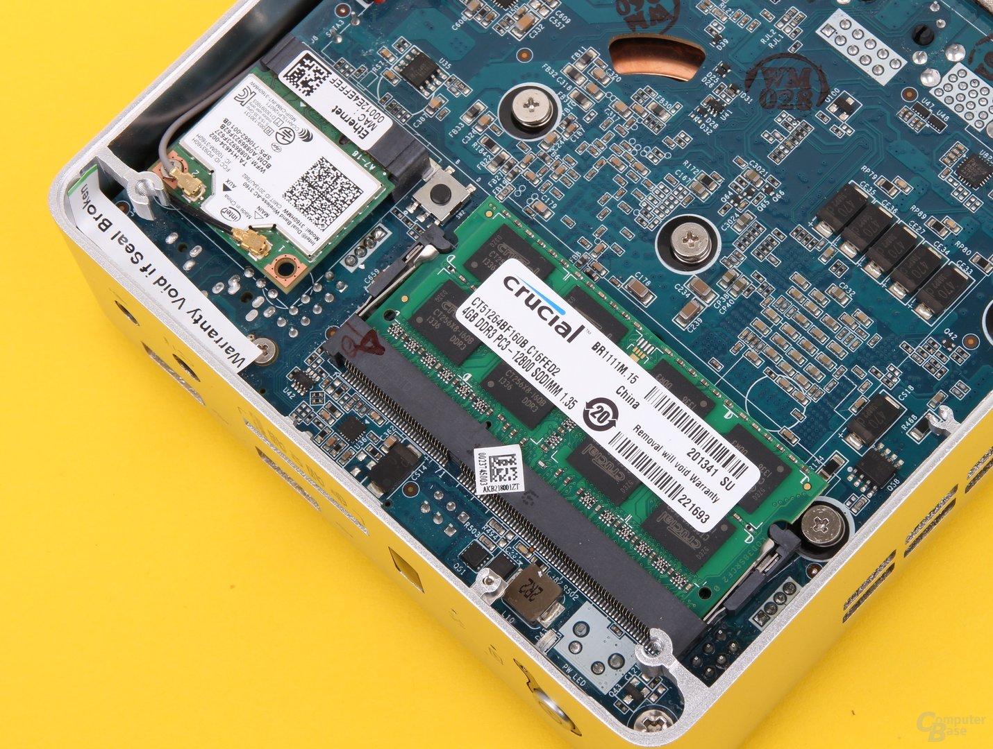 Zotac Zbox nano AQ02 Plus – RAM und WLAN