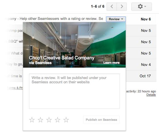 11. November 2013: Google überarbeitet die Inbox erneut...