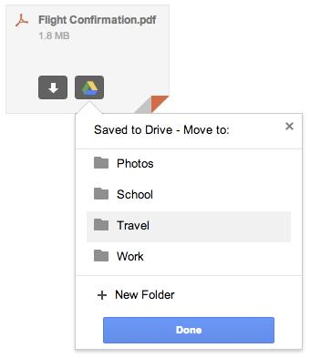 ... oder sich auf Google Drive speichern lassen