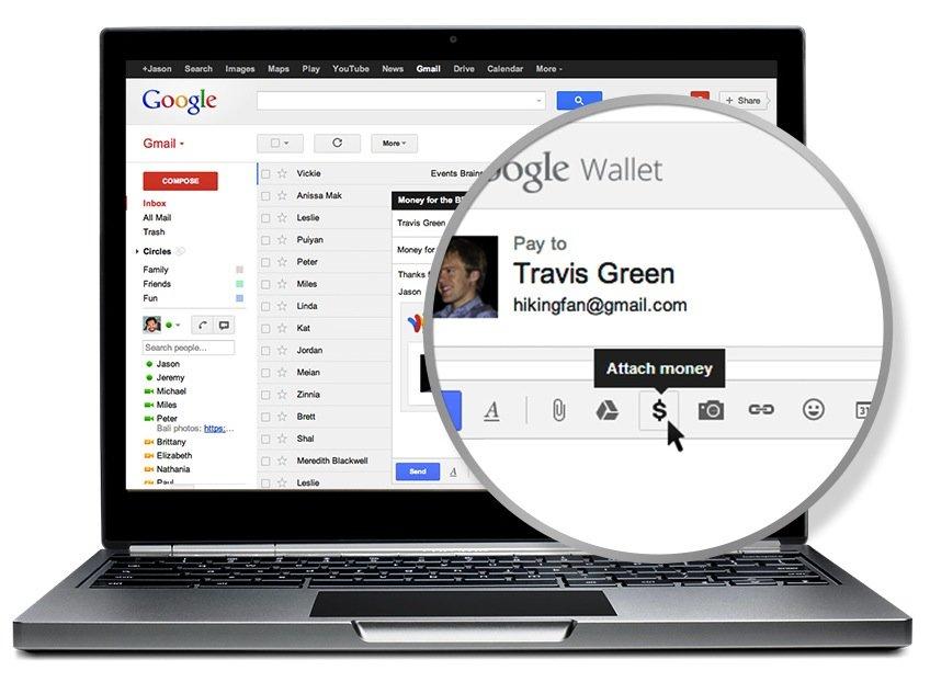15. Mai 2013: Google Wallet in Gmail integriert