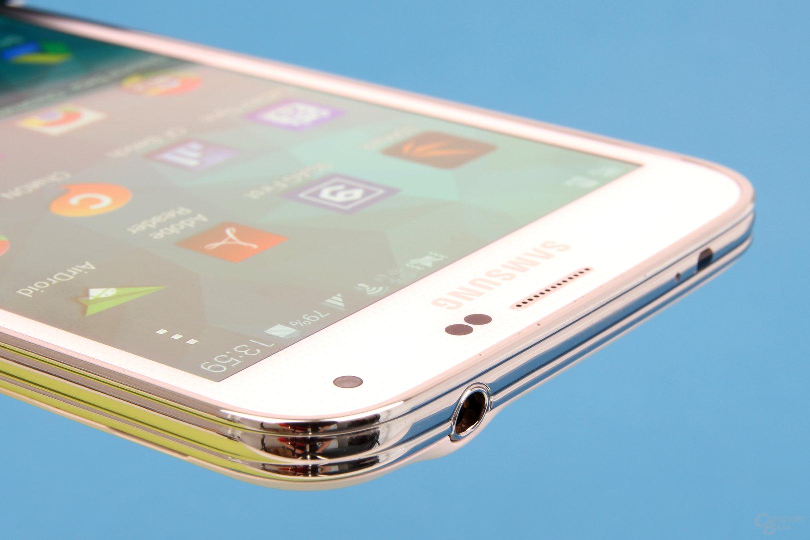 Samsung Galaxy S5: Chrom-Nachbildung aus Plastik