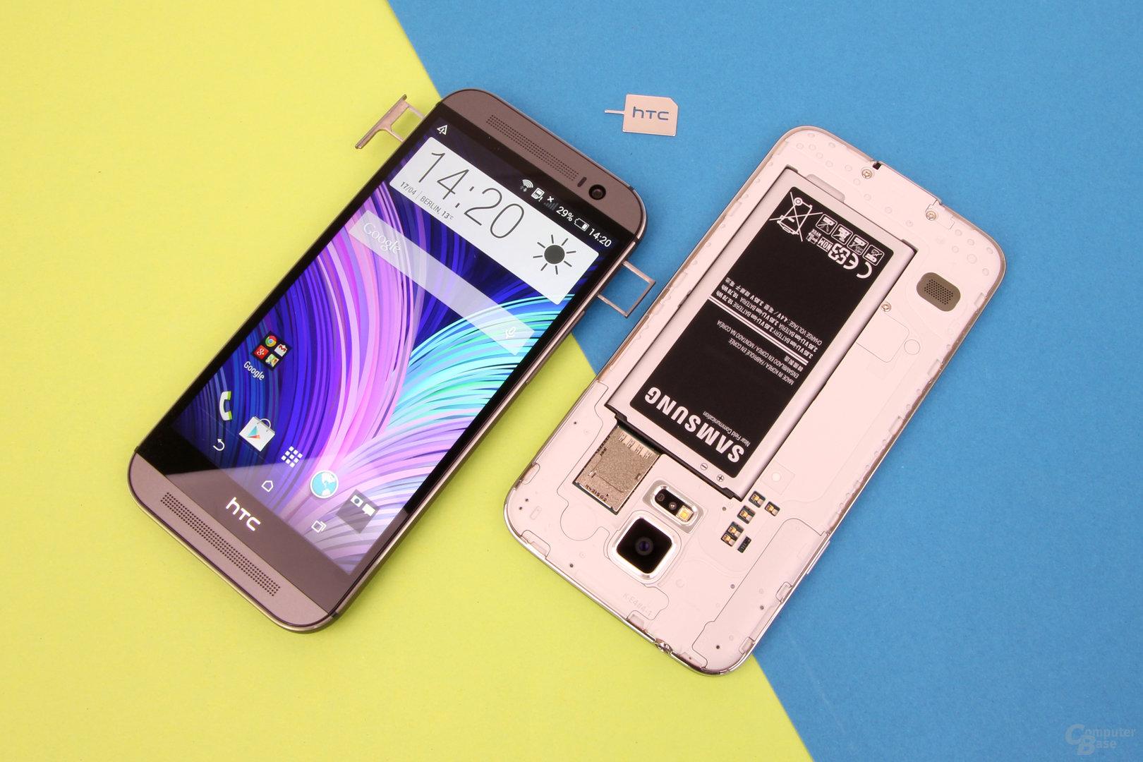 HTC One (M8) und Samsung Galaxy S5: Akku fest verbaut und wechselbar