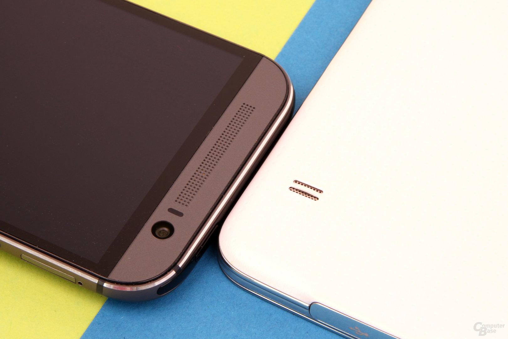 HTC One (M8) und Samsung Galaxy S5: BoomSound vs. Standard