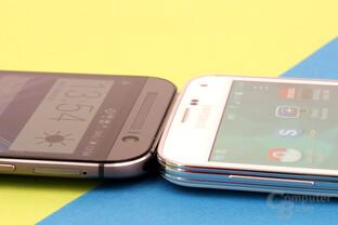 HTC One (M8) und Samsung Galaxy S5: 9,35 & 8,1 mm