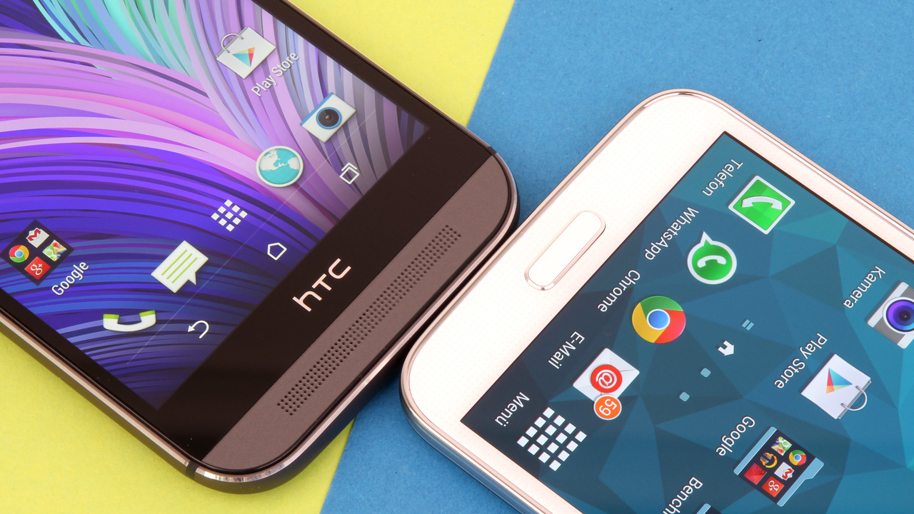 htc one m8 und samsung galaxy s5 im test duell der. Black Bedroom Furniture Sets. Home Design Ideas