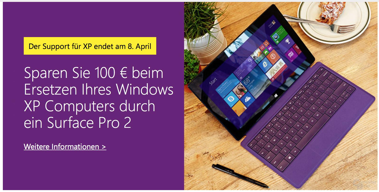 100 Euro Rabatt auf Surface Pro und Surface Pro 2