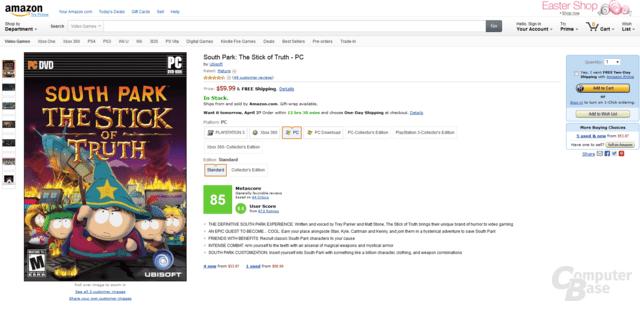 Metascore-Spielbewertung auf Amazon.com