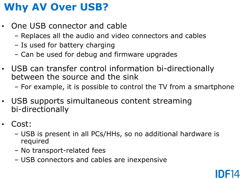 Gründe für AV über USB