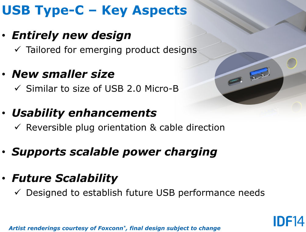 Schlüsselmerkmale von USB Typ C