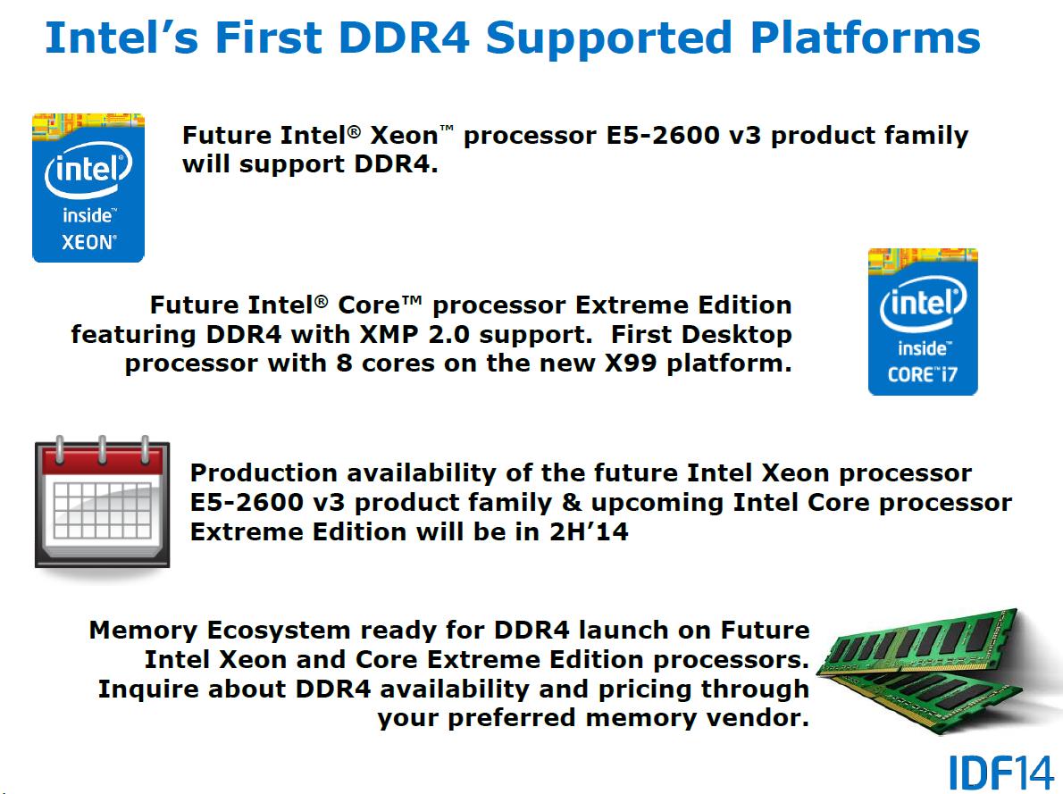 DDR4-Fahrplan