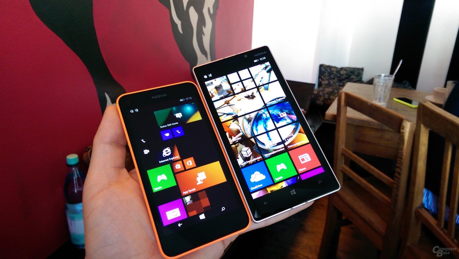 Lumia 630 neben Lumia 930