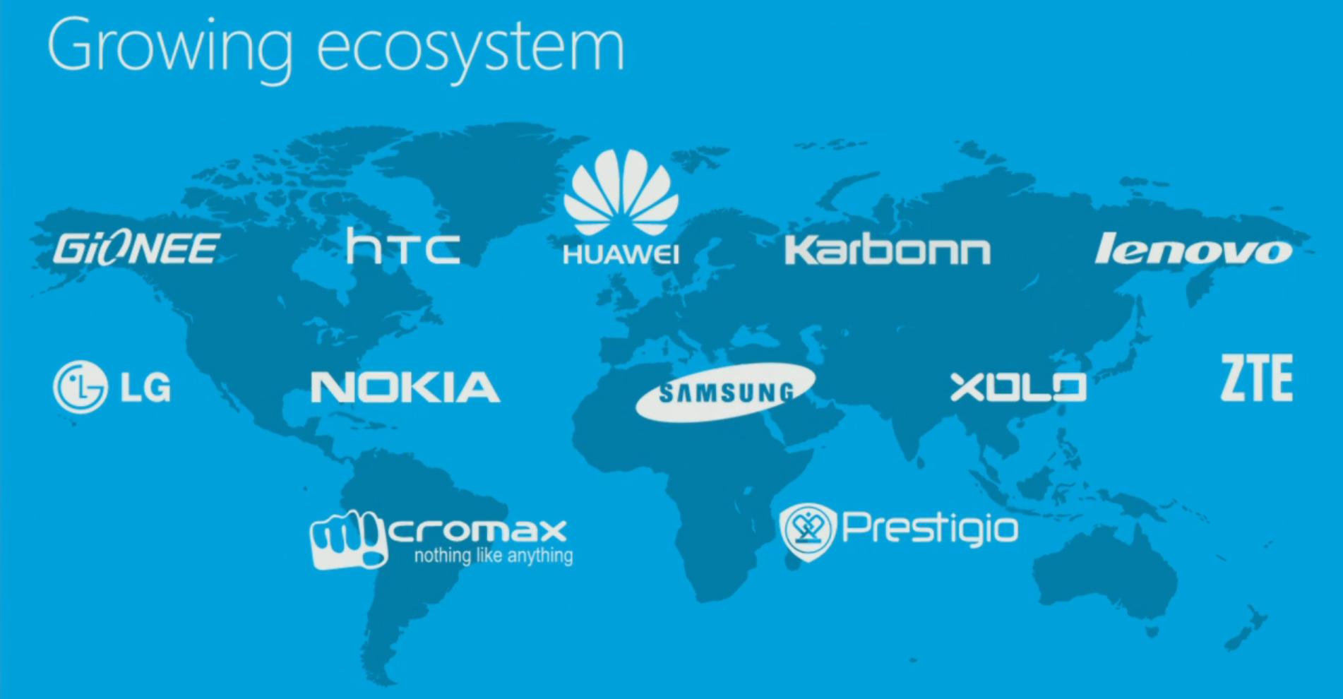 Build 2014: Alle Unterstützer neuer Windows-Phone-8.1-Geräte