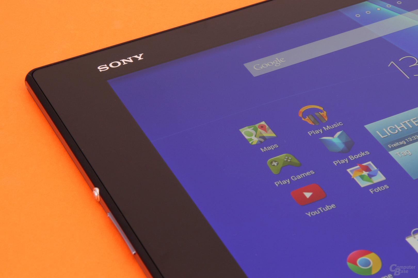 Das Display des Sony Xperia Z2 Tablet