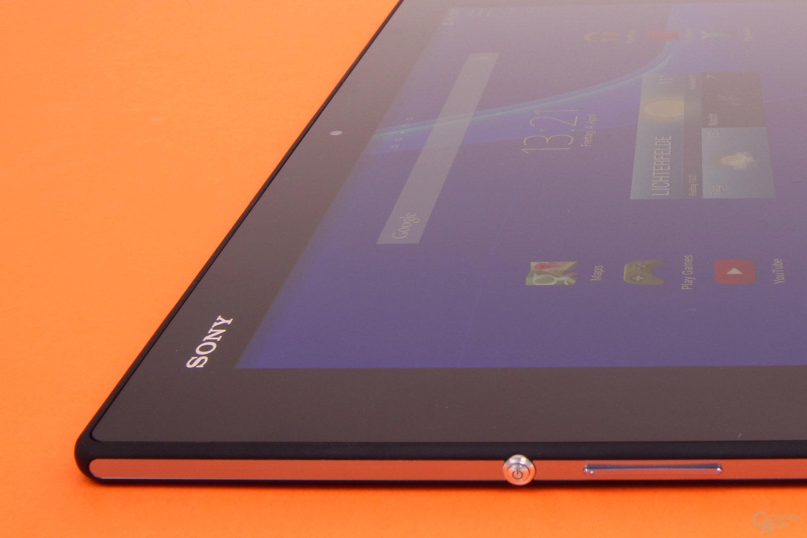 Seitliche Tasten des Sony Xperia Z2 Tablet