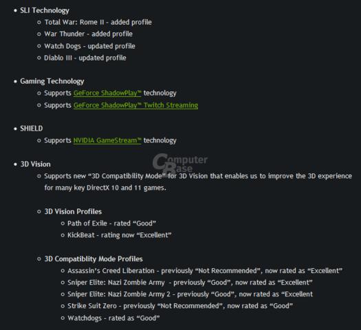 Nvidia-Treiber GeForce 337.50