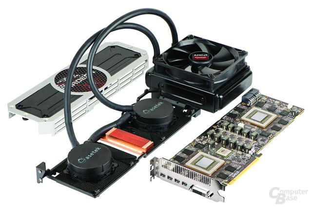 AMD Radeon R9 295X2 – Wasserkühlung