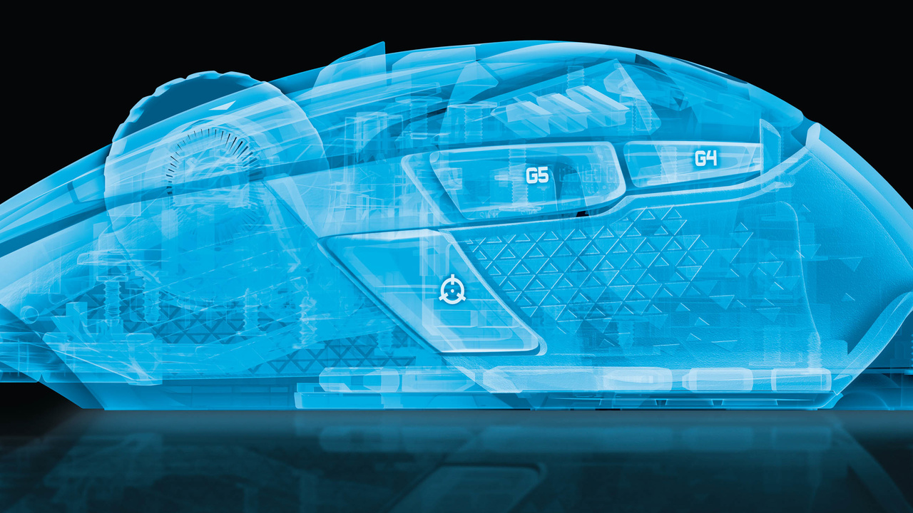 Logitech G502 Proteus Core Tunable mit 12.000-dpi-Sensor
