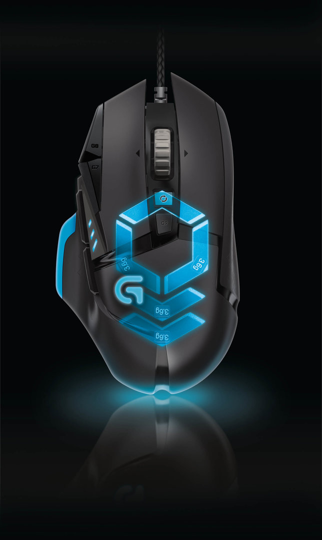 Logitech G502 - Möglichkeit der Gewichtsanpassung