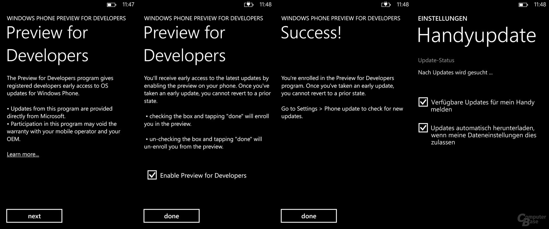 """Die App """"Preview for Developers"""" fügt das Smartphone der Verteilung hinzu"""