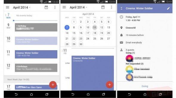 So soll Googles neue Kalender-App aussehen