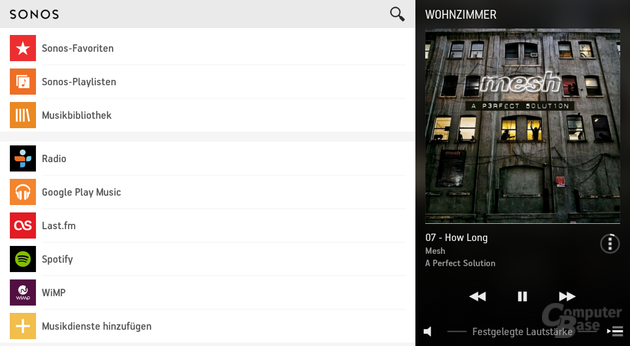 Google Play Music auf Sonos