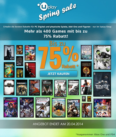 Uplay Spring Sale im Ubisoft-Shop